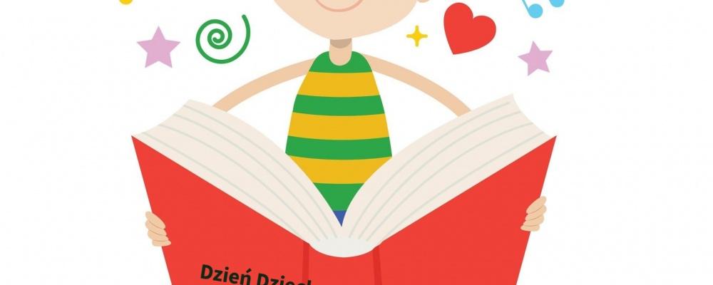 Dzień Dziecka z książką i biblioteką