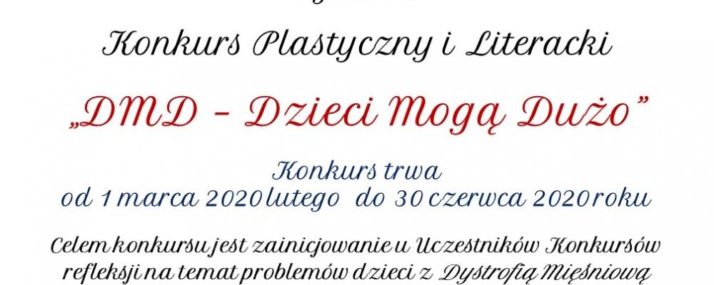 """Konkurs plastyczny i literacki """"DMD – Dzieci Mogą Dużo"""""""