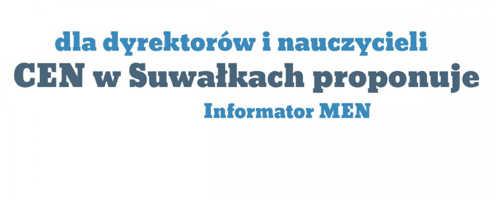 Informator MEN dla dyrektorów szkół i nauczycieli